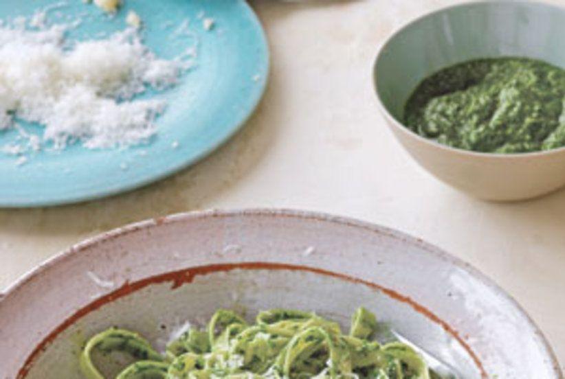 Spinach Pesto and Pasta