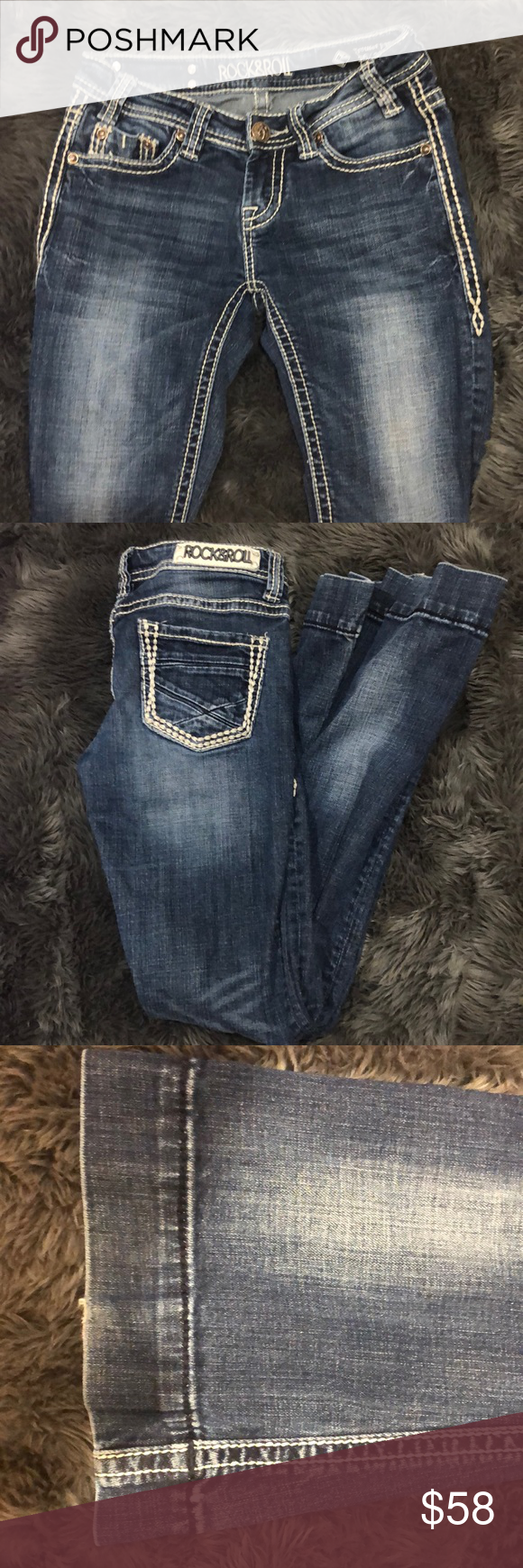 Rock and roll flare jeans Good condition Rock & Roll Cowgirl Jeans Flare & Wide Leg #rockandrolloutfits