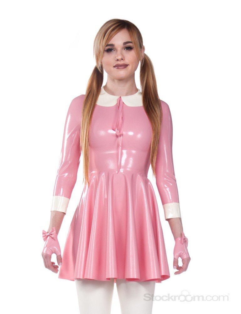 61773fa2f9cf Cute casual pink latex babydoll dress | 1 in 2019 | Dresses, Latex ...
