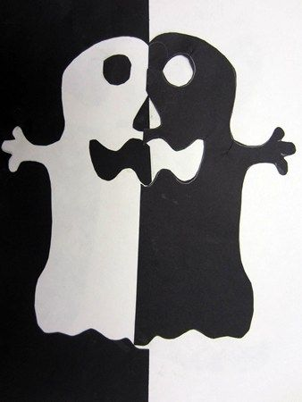 Positive Negative Space In 2019 Halloween Arts Crafts