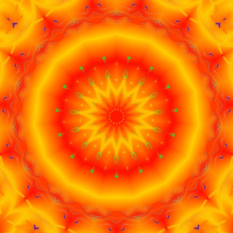 Mandala Naranja - 2º Chakra - Tolerancia y autoestima