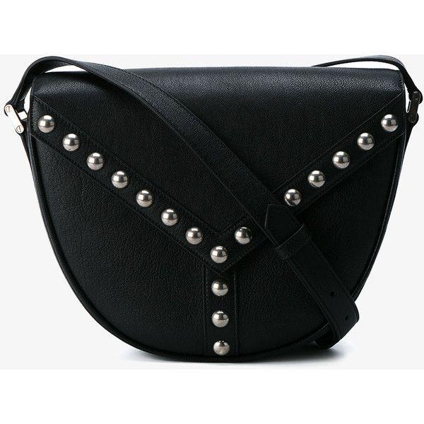 2031e32048 Saint Laurent Leather Silver Stud Hobo Bag (£1