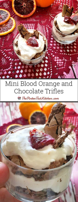 Mini Blood Orange and Chocolate Trifles | Recipe | Dessert ...