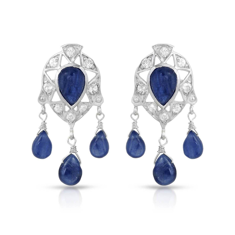 Nevada Co. Sterling 22 1/10ct TW Kyanite Earrings, Women's