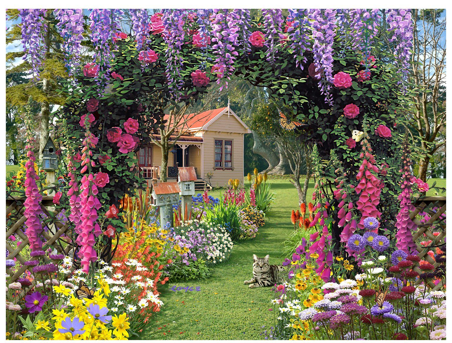 Ravensburger Cottage Garden Puzzle 300pc Gardens Cottages and