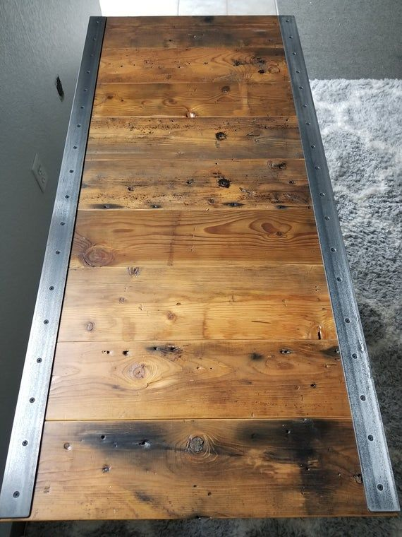Last Chance Sale! Reclaimed Distressed Industrial Dining Tab…
