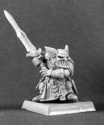 Logrim Battlefury Dwarf Paladin Capt #14304 Reaper Mini, 28mm scale NEW in pack