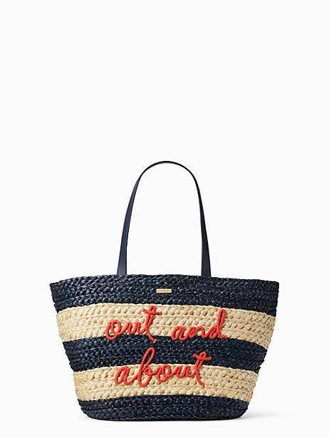 Kate Spade An Icon Follow Along On Instagram Emeraldandonyx B A G S In 2018 Pinterest Straw Tote And Handbags