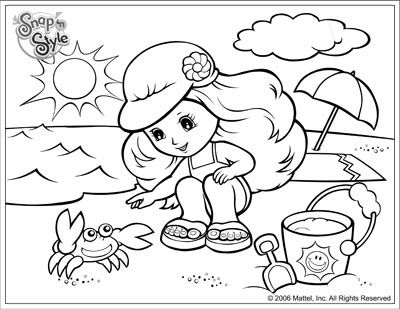 Coloring Pages Of The Beach F