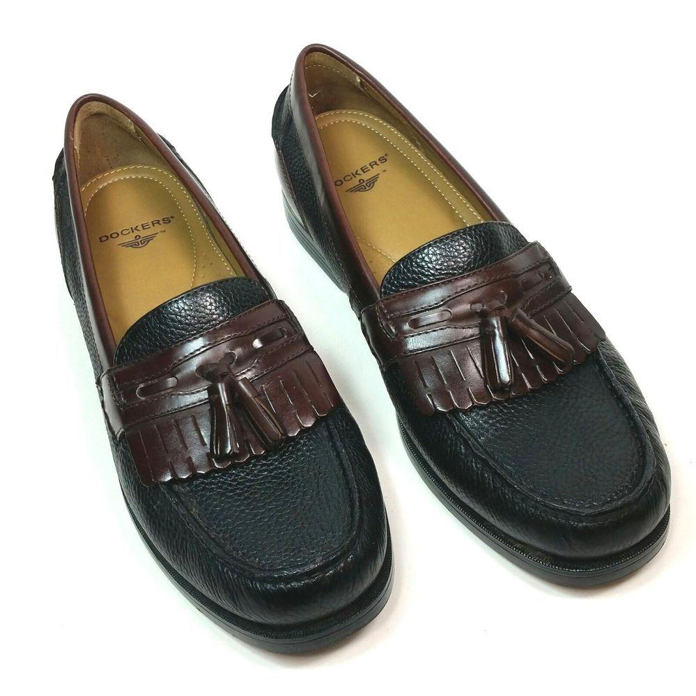761e93c735d Dockers Mens Size 11 M Slip On Tassel Loafers Black Brown Leather Dress  Shoes  DOCKERS  LoafersSlipOns  CasualDress