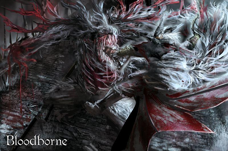 Artsy Fartsy Dark Souls Ii Concept Art: Each Boss Of Bloodborne (dlc Included) In Minimalist Style