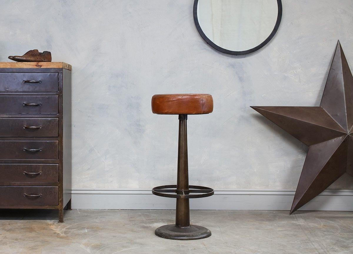 Narwana Leather Stool | Home and Lifestyle | Nkuku | Westcliffe ...
