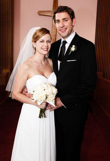 The Office Pam Jim Wedding Dress Styles Wedding Site Jim And Pam Wedding