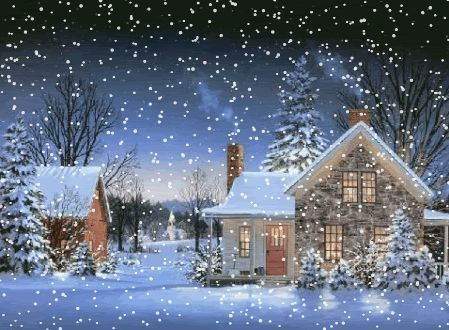 animated snow falling scene - Yahoo Search Results Craft