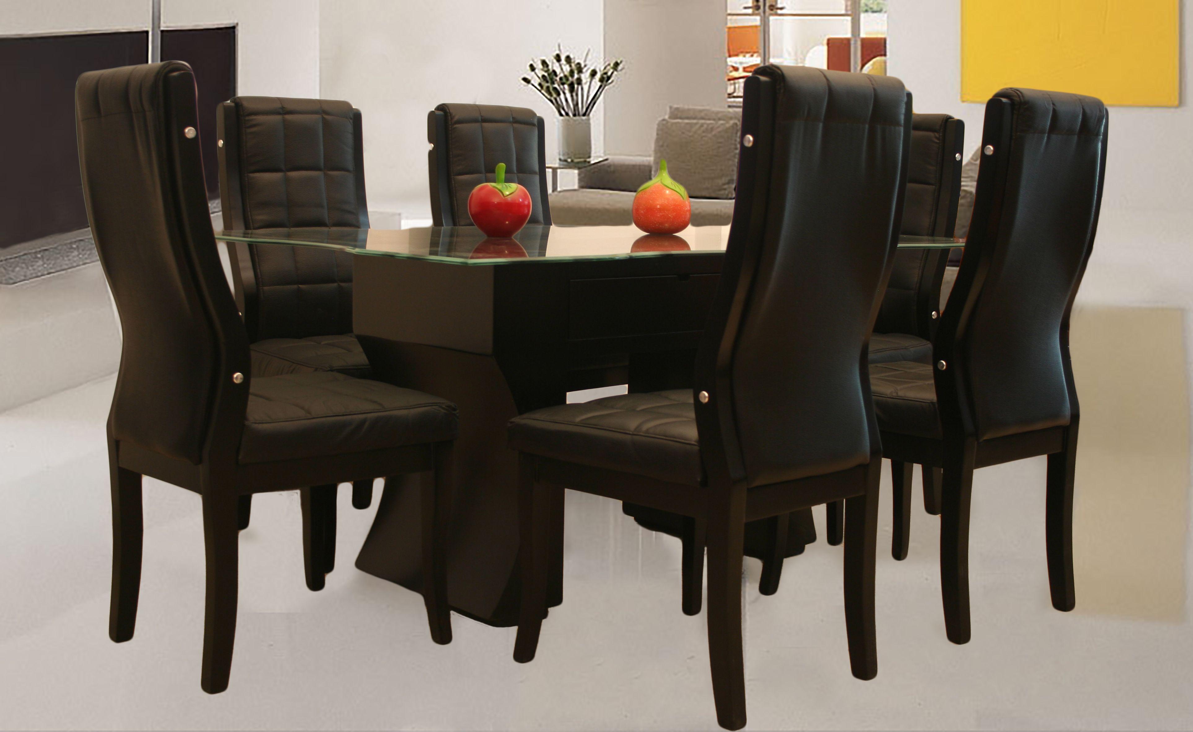 Comedores comedor lucas de 6 sillas muebles pinterest for Comedores 6 sillas