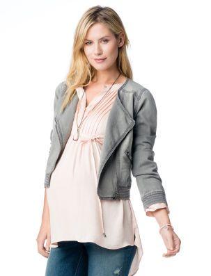 cc8a93bb7 li>jessica simpson maternity jacket <li>zipper pocket <li>stitch ...