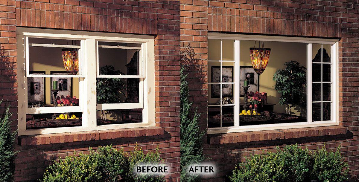 Stylish Windows Renovation Before Wood Double Hung