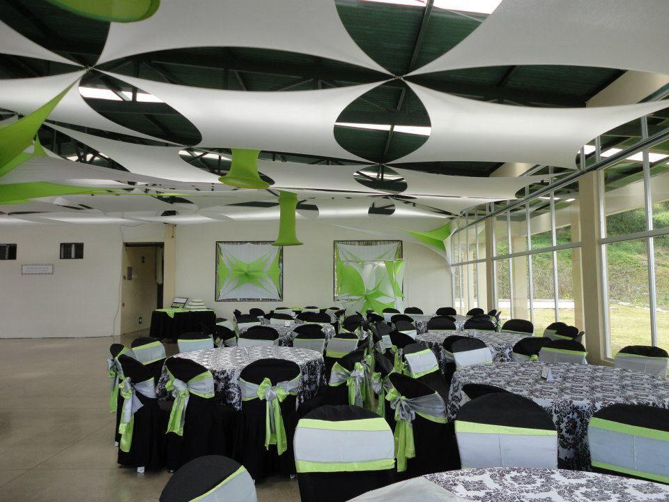 Decoracion de techos con telas telas y en tonos vibrantes for Decoracion para techos