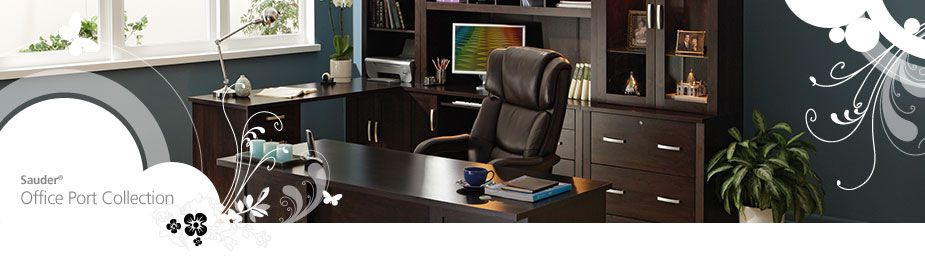 Office Max Sauder Office Port Collection Furniture Office Max Home Office Design