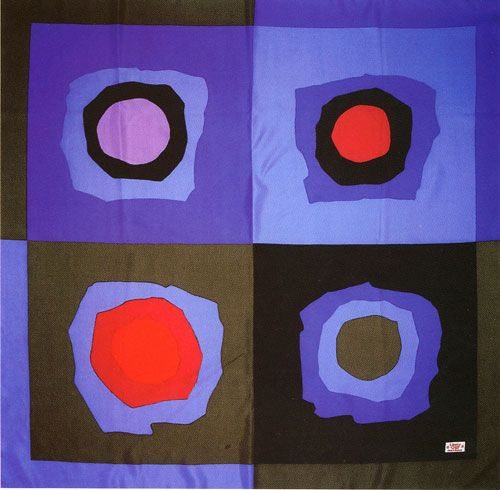 Liberty of London scarf, 1960 ((from robert stewart design 1945-95 by liz arthur) via Cathy of California blog