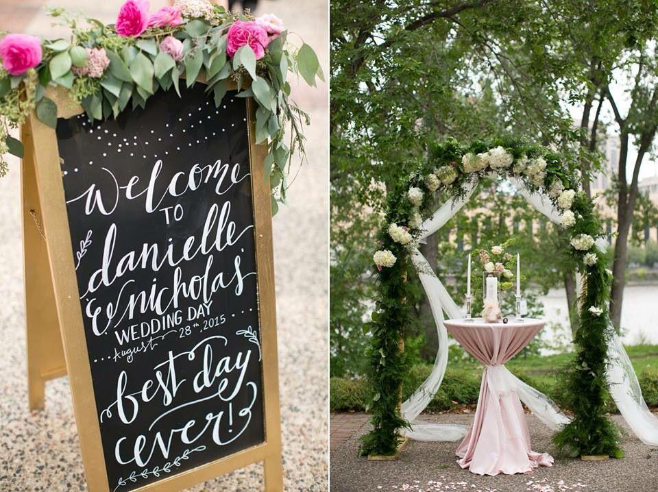 Wedding chalkboard. #mnwedding