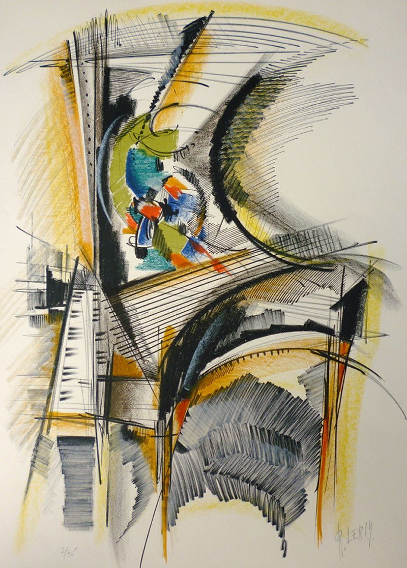 "Roger Lersy - ''Piano'' or ""Cityscape"""