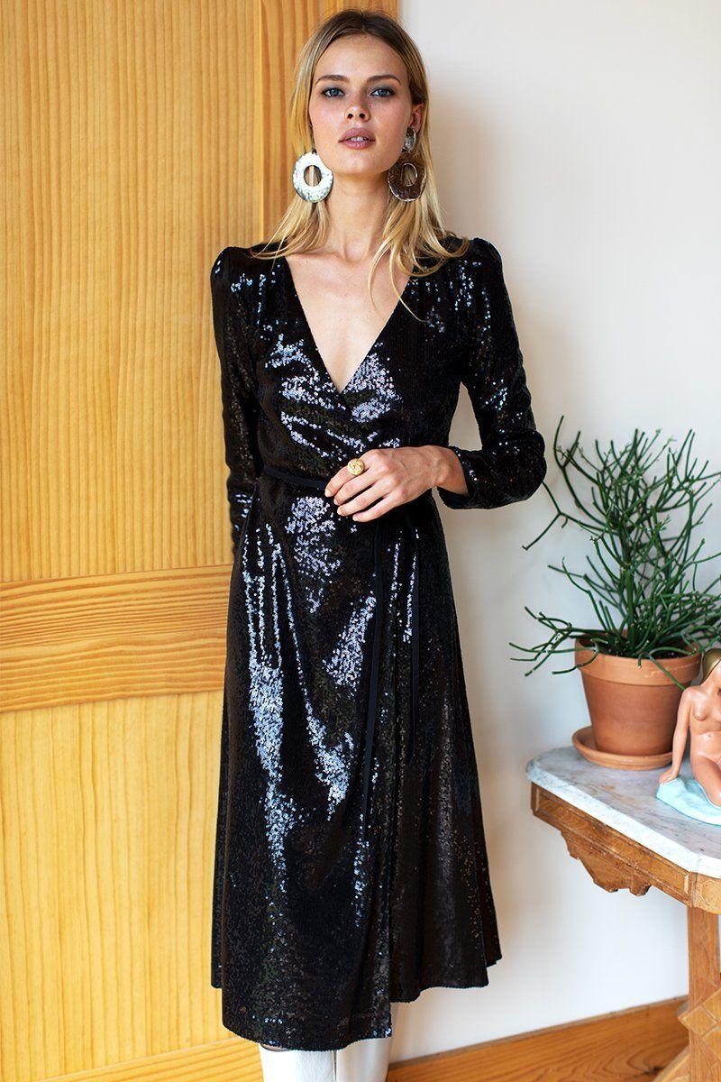 Ballet Dress Midi - Black Sequin #emersonfry