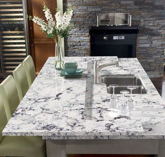 Another view of quartz kitchen countertop PRAA SANDS by CAMBRIA for my dream kitchen remodel.