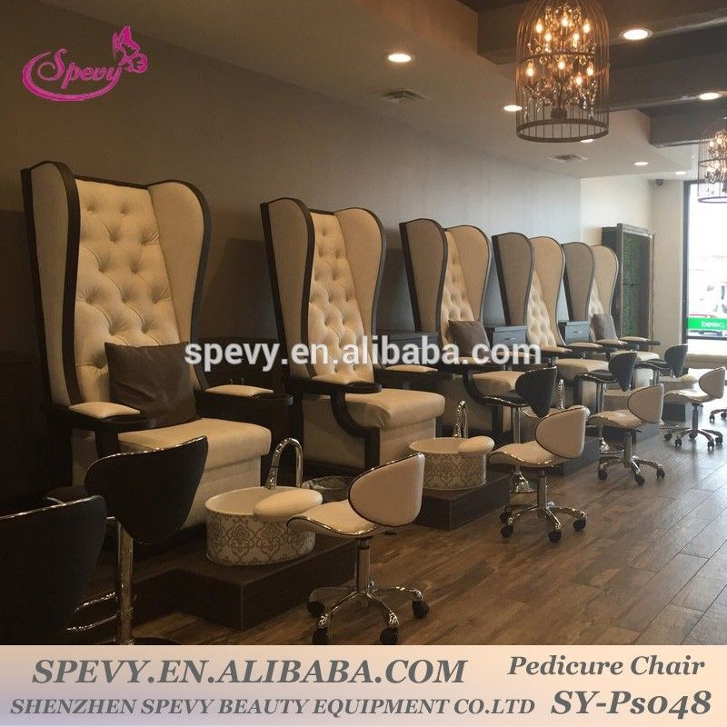 high back throne pedicure chair with ceramic bowl and jet form