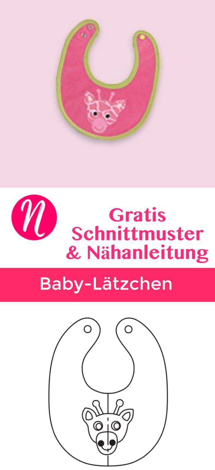 Babylätzchen mit Druckknöpfen - Freebook   Pinterest   Gratis ...