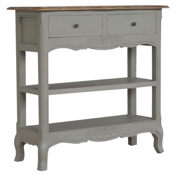 Vintageshabby chicUrbanRustic 2 Drawer Console hall Table