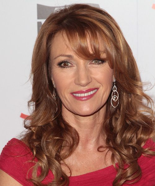Jane Seymour Long Wavy Hairstyle Medium Red Copper