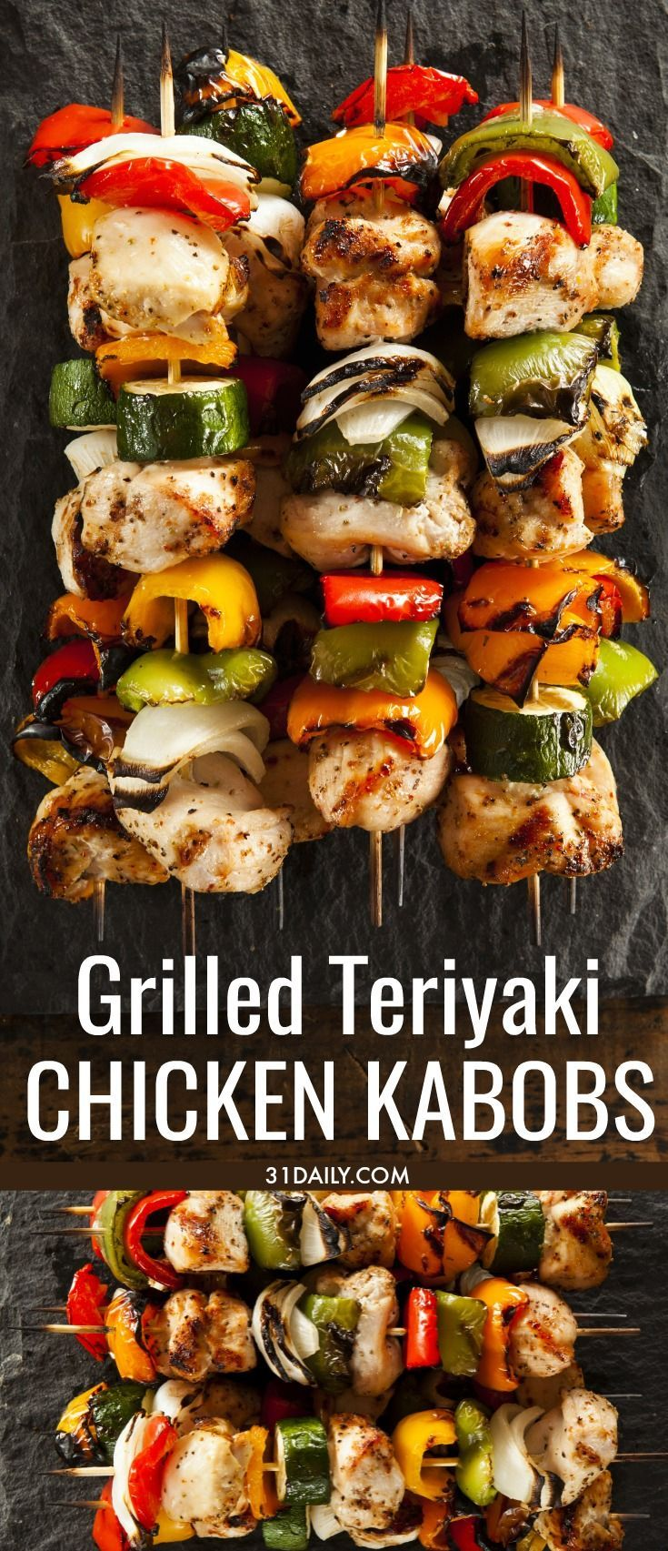 Grilled Teriyaki Chicken Kabobs - 31 Daily