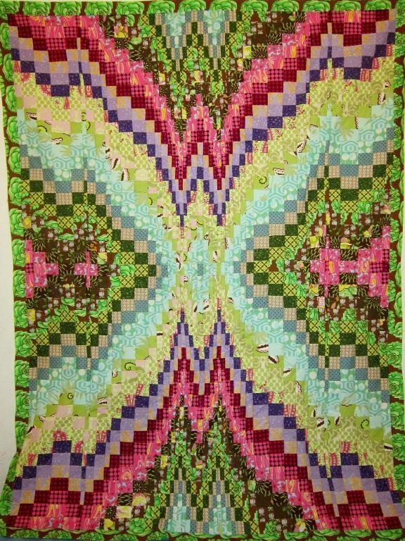 Quilting: Bargello Quilt Top 53' x 68'