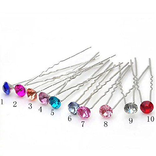 EYX Formula Beautiful Large diamond crystal U shape hairpins for hair dressing,Korean Hair Accessories hair clips pins for children,laies,women >>> Check out this great product.