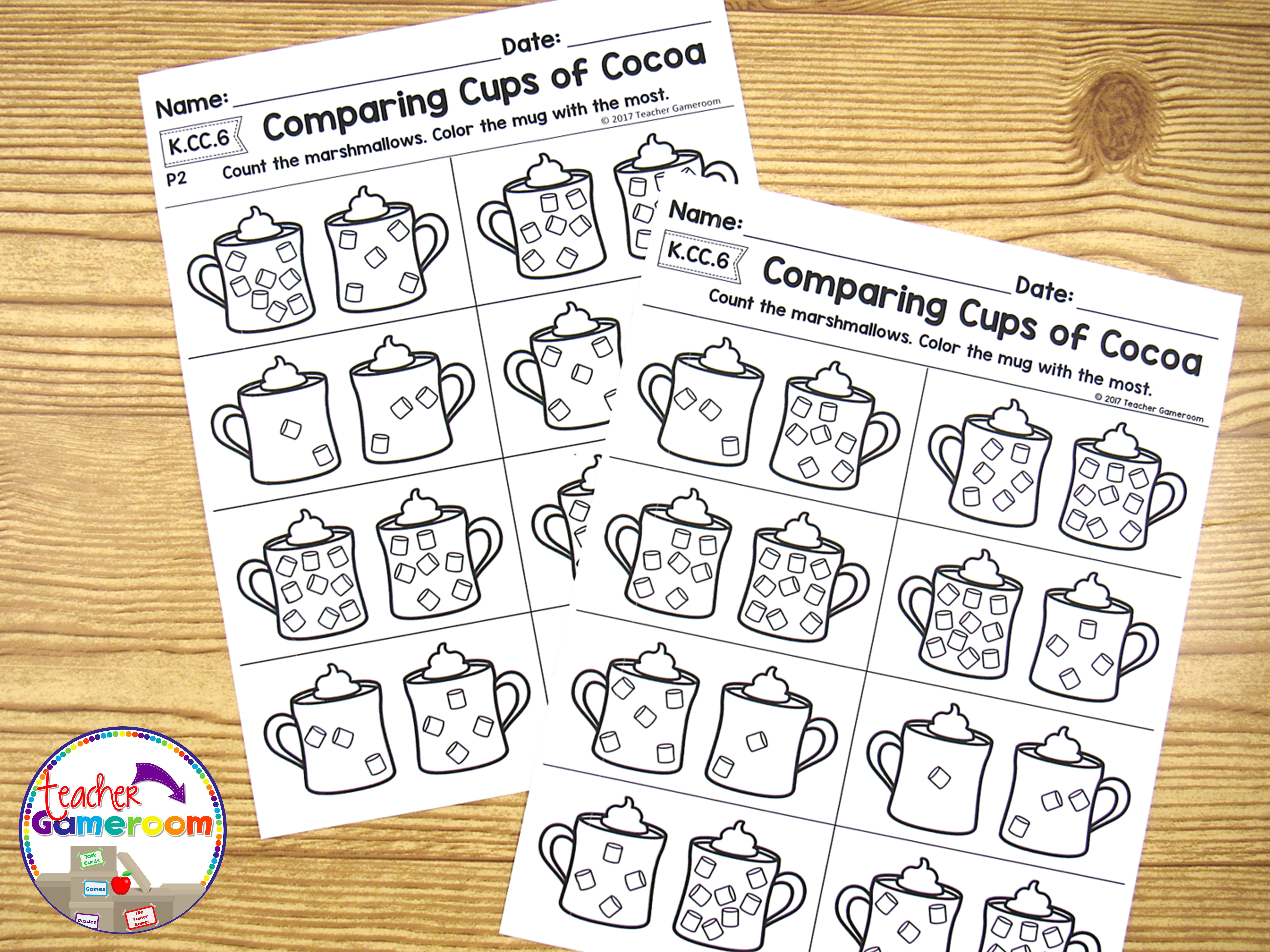 Kindergarten Winter Math Worksheets