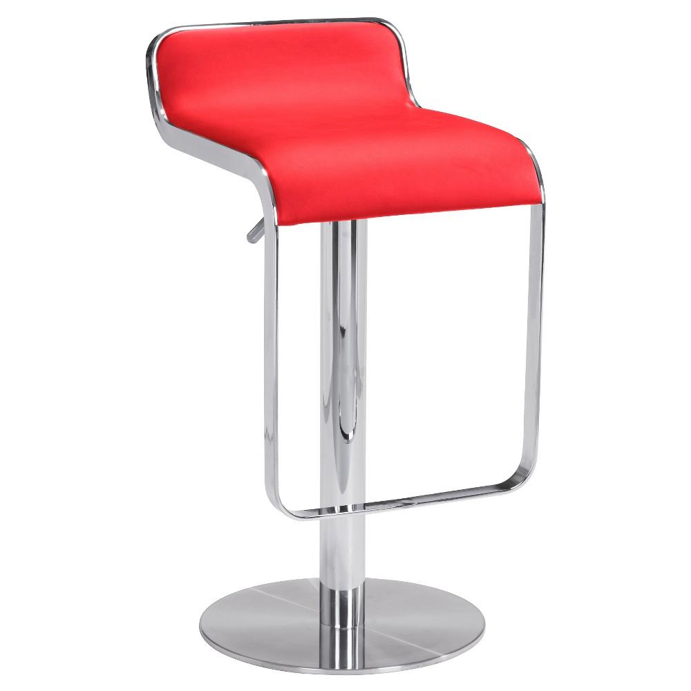 27 Sleek Adjustable Barstool Black Zm Home In 2020 Bar Stools Red Bar Stools Black Bar Stools