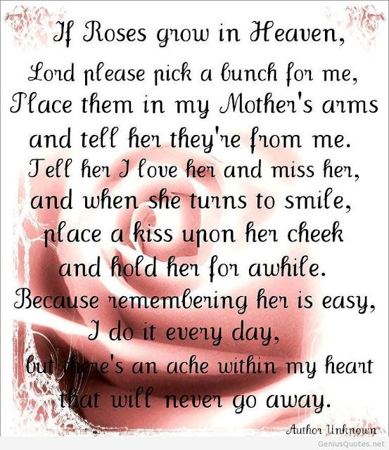 Missing Mom In Heaven Poems Quotes From Daughter Son Images 5