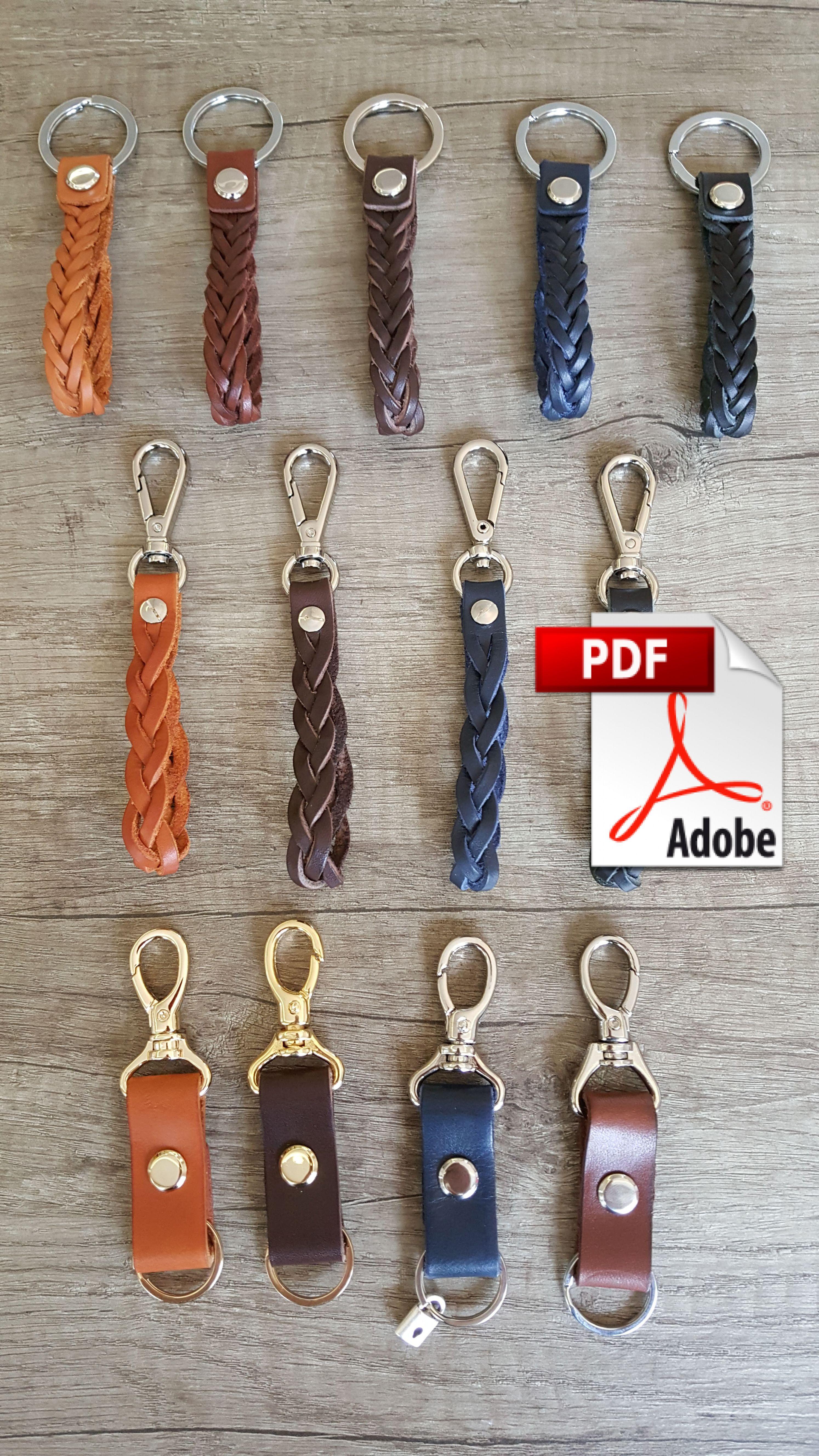 Pdf Braid Keychains Pattern Leather Key Fobs Leather Card Wallet Pattern Leather Keychain Diy