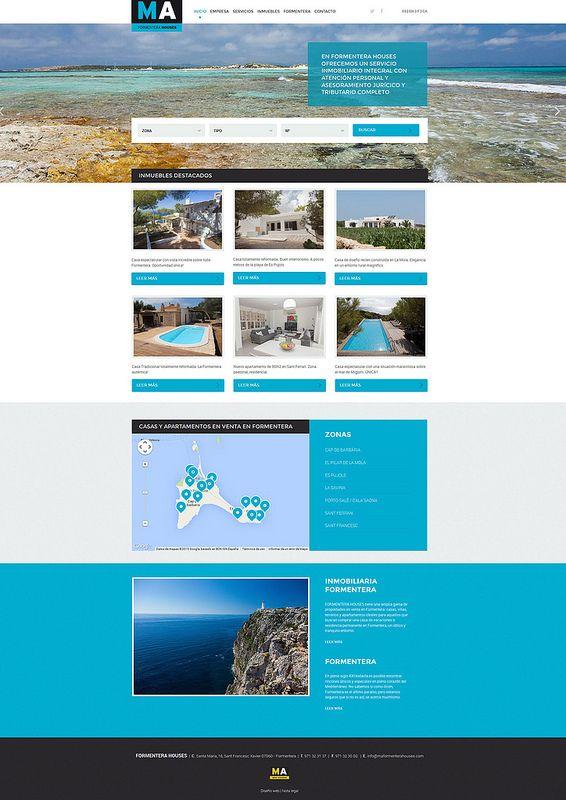 Diseño web Ma Formentera Houses  http://www.maformenterahouses.com/