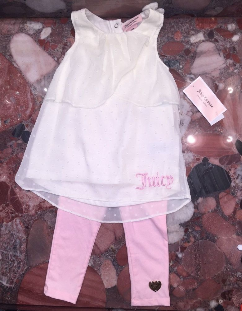 e8ab73a94 NWT Juicy Couture Chiffon Ruffle Top Pink Leggings Outfit 2pc Set Toddler  Girl's #JuicyCouture #DressOutfit #DressyEveryday
