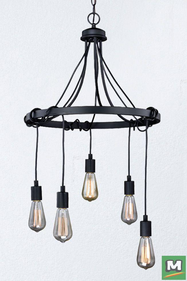 Patriot Lighting® Wallis Chandelier with Dark Bronze Finish and 5 vintage-style light bulbs & Patriot Lighting® Chapman Chandelier with Parisian Bronze Finish ... azcodes.com