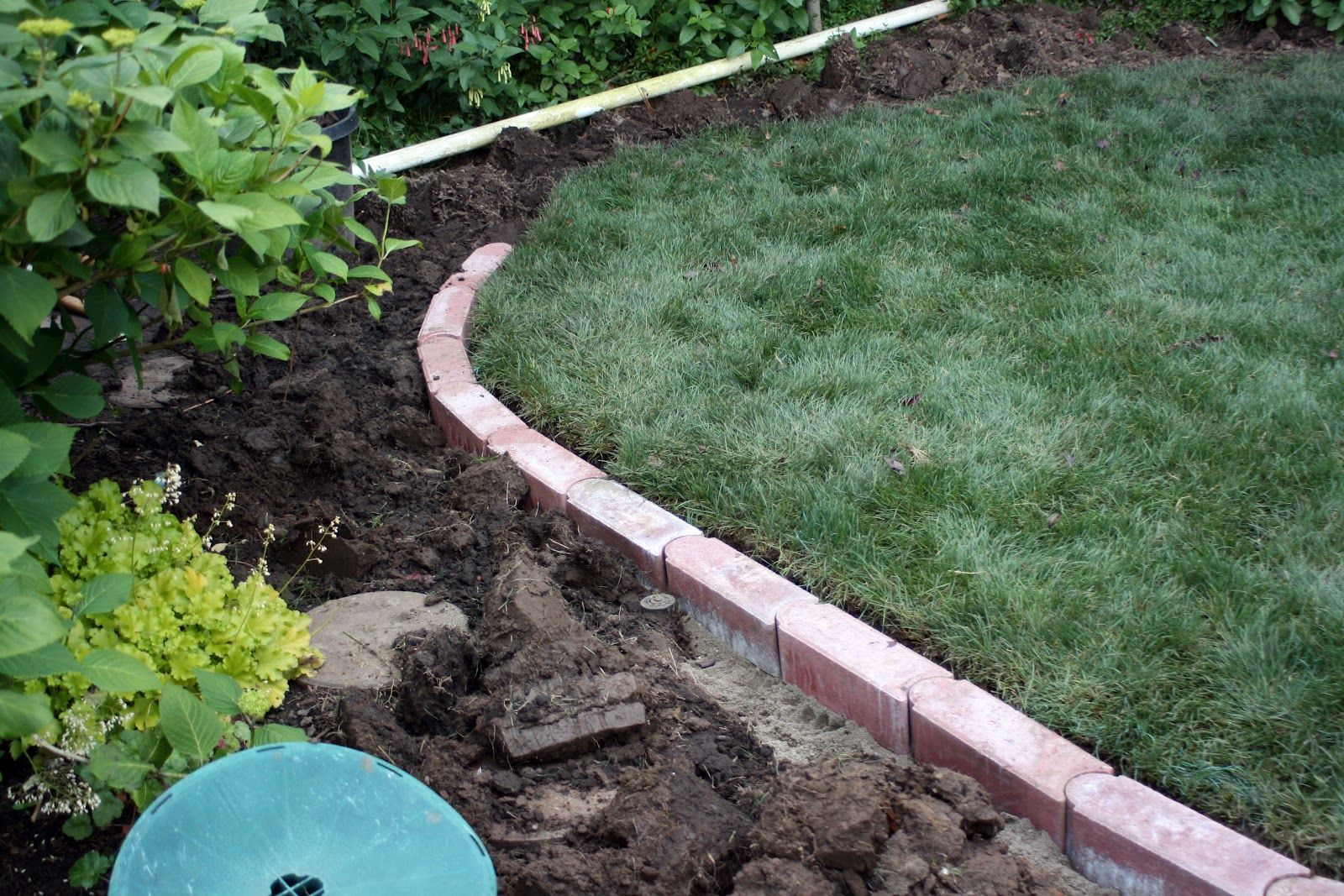 Food and garden dailies brick edging for the lawn for Brick garden edging ideas