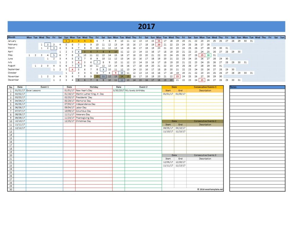 2019 Yearly Calendar Template Exceltemplate Net Excel Calendar Template Yearly Calendar Template Calendar Template