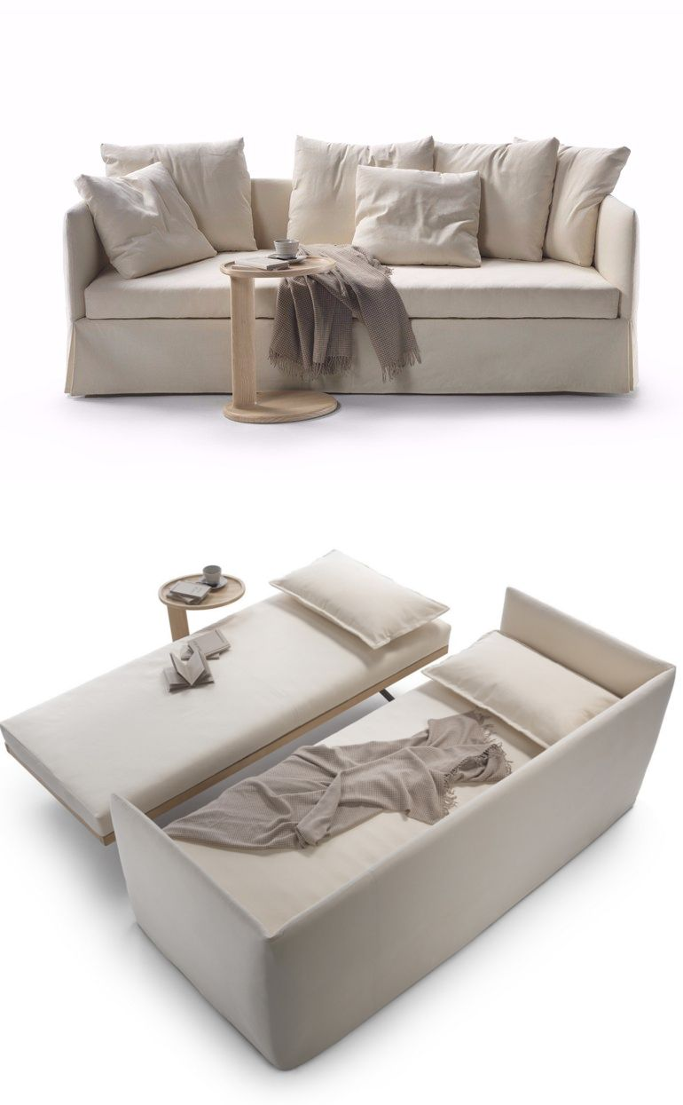 Twins Fabric Sofa Bed With Removable Cover By Flexform Design Giulio Manzoni