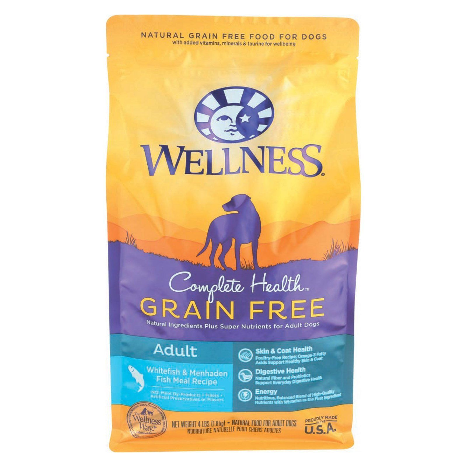 Wellness Pet Products Dog Food Grain Free White Fish And