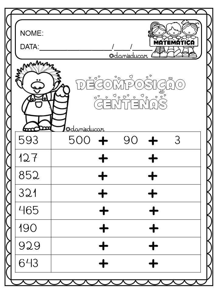 Atividades de decomposição is part of Teaching math -