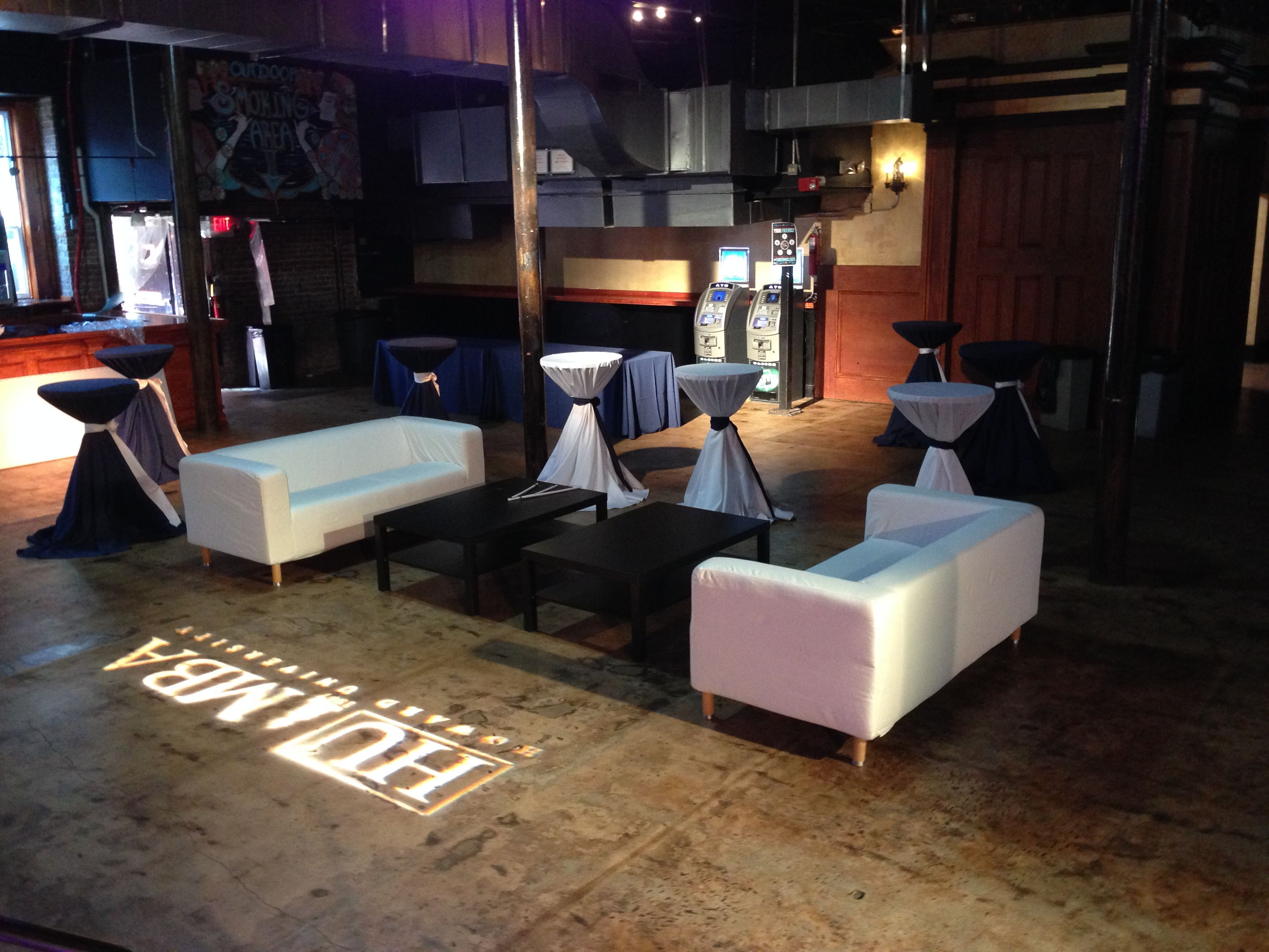 We set up a few lounges at the Tabernacle Great venue to work