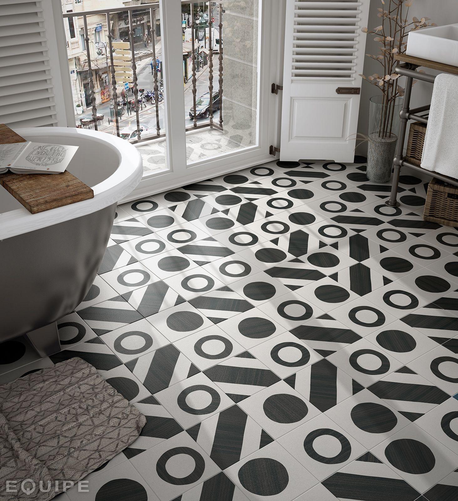 Home And Decor Tile Caprice Deco Balance B&w  Porcelanico  Pinterest  Flooring