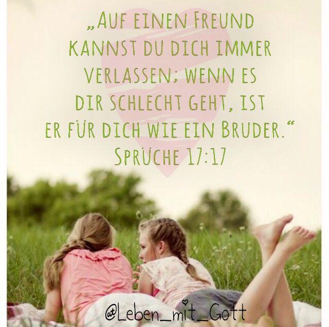 Freundschaft/ Bibelvers | Bibel Verse/Bibel Zitate | Sprüche über